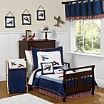 Sweet Jojo Designs Vintage Aviator 5-Piece Toddler Bedding Set