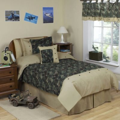 Sweet Jojo Designs Camo 4-Piece Twin Bedding Set