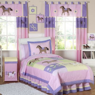 Sweet Jojo Designs Pretty Pony 4-Piece Twin Comforter Set