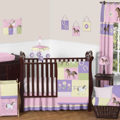 Sweet Jojo Designs Pretty Pony 11-Piece Bedding Set
