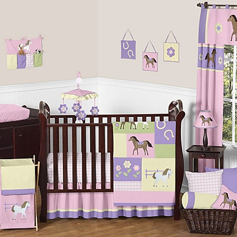 Sweet Jojo Designs Pretty Pony Crib Bedding Collection