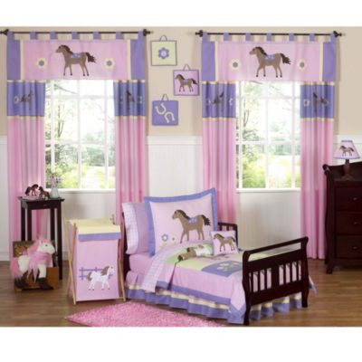 Sweet Jojo Designs Pretty Pony 5-Piece Toddler Bedding Set