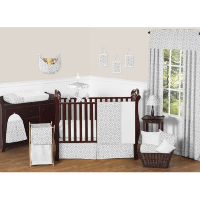 Sweet Jojo Designs Diamond 11-Piece Crib Bedding Set in Grey/White