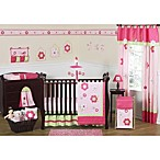 Sweet Jojo Designs Flower Pink and Green 11-Piece Crib Bedding Set