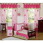 Sweet Jojo Designs Pink and Green Flower 5-Piece Toddler Bedding Set