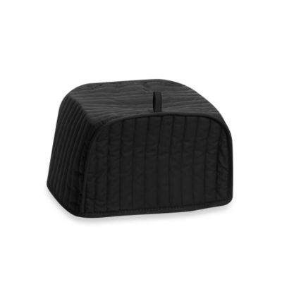 Black Four-Slice Toaster Cover