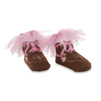 Mud Pie® Cowgirl Boot Socks