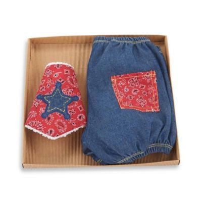 Mud Pie™ Cowboy Diaper Cover and Bib Set