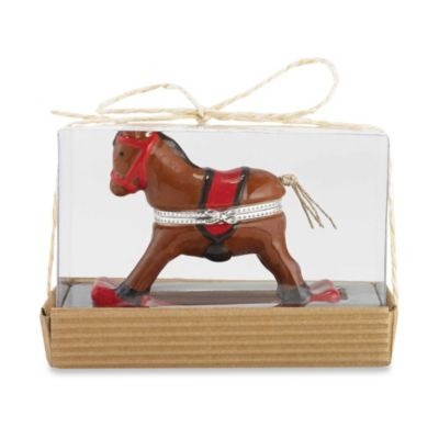 Mud Pie® Rocking Horse Tooth & Curl Keepsake Box