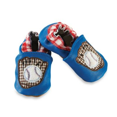 Mud Pie® Size 0-6M Baseball Shoes in Blue