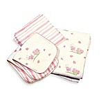 Bunnies by the Bay Cuddle Me Kitty 4-Piece Blanket & Burp Set