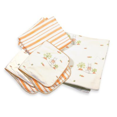 Bunnies by the Bay Cuddle Me Bunny 4-Piece Blanket & Burp Set