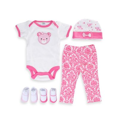 Cutie Pie® 5-Piece Bear Layette Set in 3-6M