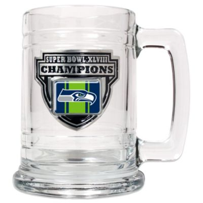 NFL Seattle Seahawks Super Bowl XLVIII Champions 15-Ounce Glass Tankard