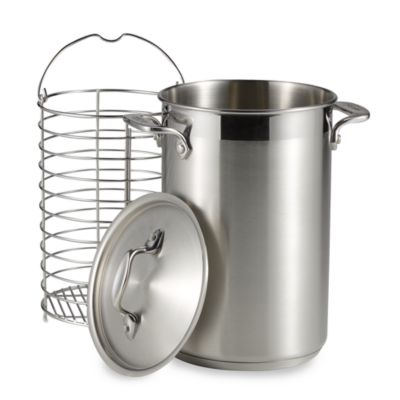 All-Clad Stainless Steel Covered Asparagus Pot With Basket