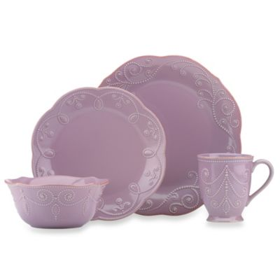Lenox® French Perle 4-Piece Dinnerware Place Setting in Violet