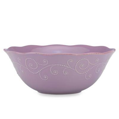 Lenox® French Perle 64-Ounce Serving Bowl in Violet