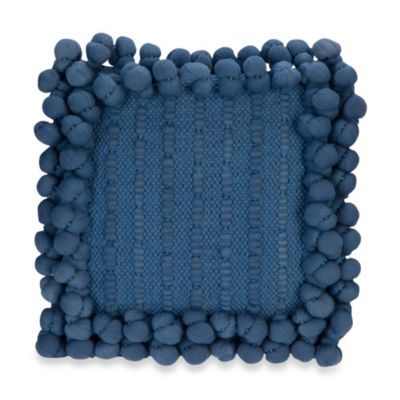 Anthology™ Bungalow Pom Pom Square Throw Pillow in Teal