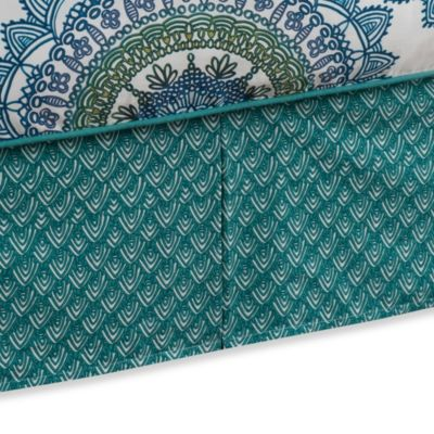 Anthology™ Bungalow Twin Bed Skirt in Teal