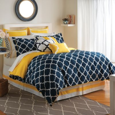 Jill Rosenwald Hampton Links 4-Piece Reversible Queen Comforter Set
