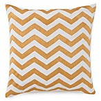 Jill Rosenwald® Plimpton Flame Chevron Embroidered Square Toss Pillow