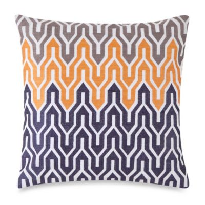 Jill Rosenwald Plimpton Flame Allover Embroidered Square Toss Pillow