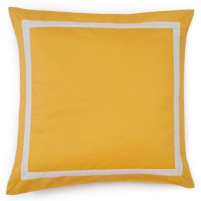 Jill Rosenwald Plimpton Flame Mitered Frame Square Throw Pillow