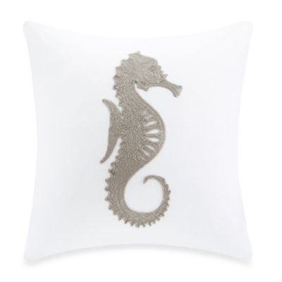 Harbor House™ Sarah Seahorse Square Toss Pillow