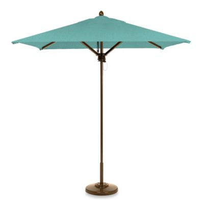 Brown Jordan 7-Foot Square Patio Umbrella in Light Blue