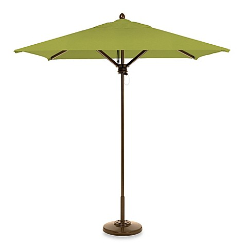 buy brown 7 foot square patio umbrella in green