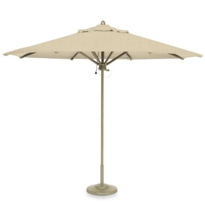 Brown Jordan 9-Foot Octagon Patio Umbrella in Oyster