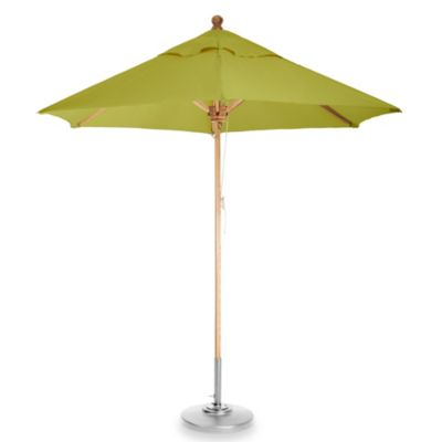 Brown Jordan 8-Foot Octagon Patio Umbrella in morning Fog