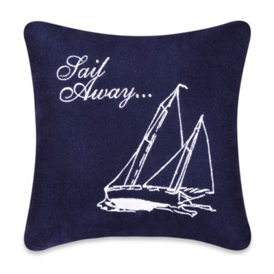 Sail Away Square Throw Pillow