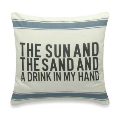 The Sun And The Sand Square Throw Pillow