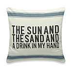 The Sun And The Sand Square Toss Pillow