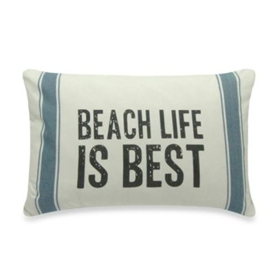 Beach Life Is Best Oblong Toss Pillow