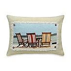 Take A Seat Printed Oblong Toss Pillow
