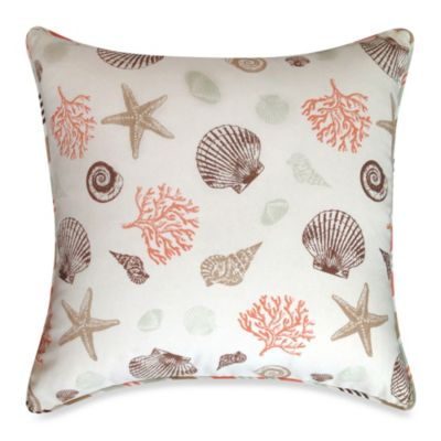Seashore Square Throw Pillow