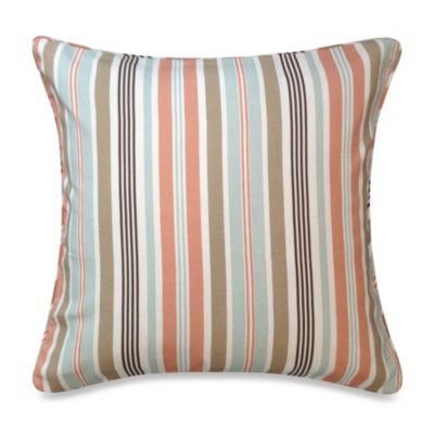 Regatta Stripe Square Toss Pillow