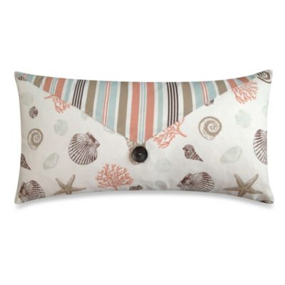 Seashore Regatta Oblong Toss Pillow