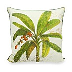 Newport Pineapple Tree Seal Square Toss Pillow