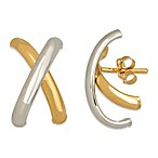 14K White Gold and 14K Yellow Gold Polished Letter