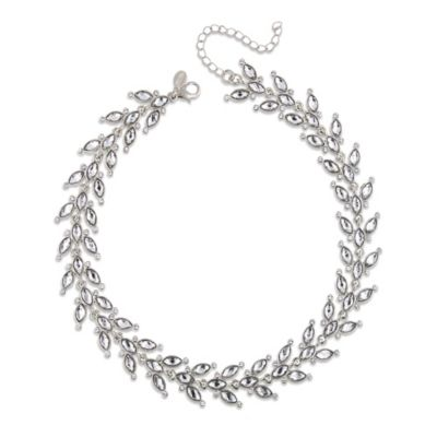 White Label Crystal Vine Necklace