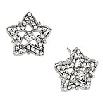 Antiquities Couture Crystal Star Stud Earrings