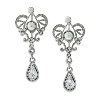 Amore Queen's Cut Bridal Earrings