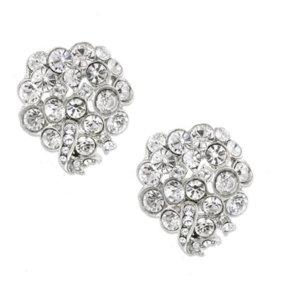 White Label Crystal Cluster Earrings