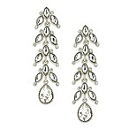 White Label Linear Teardrop Vine Earrings
