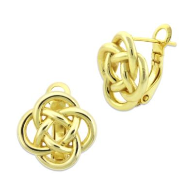 "18K Yellow Gold Over Sterling Silver ""Love Knot"" Earring"