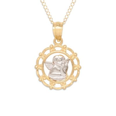 14K Yellow Gold Raphael Angel Pendant