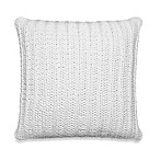 Kenneth Cole Reaction Home Mineral Rib Knit Square Toss Pillow